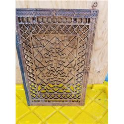 ORNATE CAST IRON GRILL