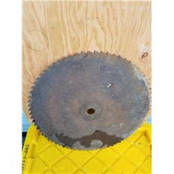 22 IN ROUND SAW BLADE, NO MISSING TEETH