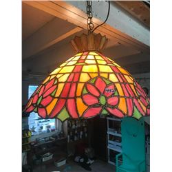 LEAD & STAINED GLASS HANGING LIGHT