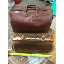 2 LEATHER TRAVEL BAGS