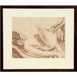 Philip Pearlstein, Nude on Chair, Lithograph