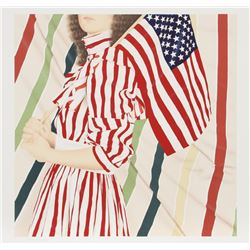 Robert Anderson, American Girl (Stars and Stripes), Lithograph