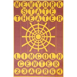 Robert Indiana, New York State Theater Lincoln Center, Serigraph Poster