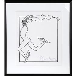 Peter Max, Runner, Serigraph and dated