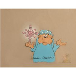 Stan and Jan Berenstain, Mama Bear with Christmas Tree Topper, Production Cel
