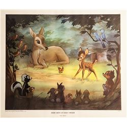 Disney Studios, Bambi Meets His Forest Friends, Poster