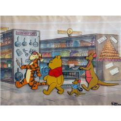 Disney Studios, Supermarket Scene with Winnie the Pooh, Tigger and Roo, Production Cel