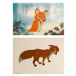 Disney Studios, Lot of 2 Fox and the Hound, Production Cels