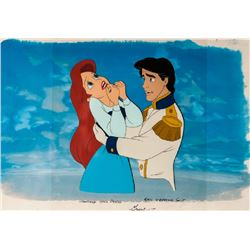 Disney Studios, Little Mermaid - Ariel and Prince Eric, Production Watercolor Drawing