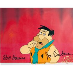 Hanna Barbera, Fred Flinstone with Red Curtain, Production Cel