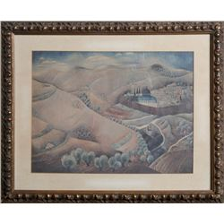 Reuven Rubin, As The Mountains Are Round, Jerusalem 1925, Offset lithograph