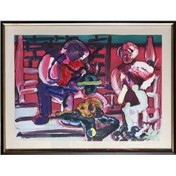 Romare Bearden, Louisiana Serenade from the Jazz Series, Lithograph