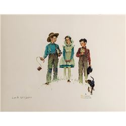 Norman Rockwell, Me and My Pal - A, Lithograph