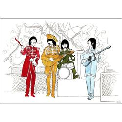 Al Hirschfeld, The Beatles - Sgt. Peppers Lonely Hearts Club Band, Lithograph