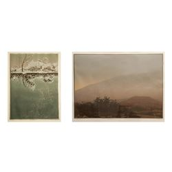 Teri Malo, Trees in the Mist & Light Snow, Lot of 2 Lithographs
