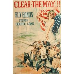 Howard Chandler Christy, Clear the Way, WWI, Poster