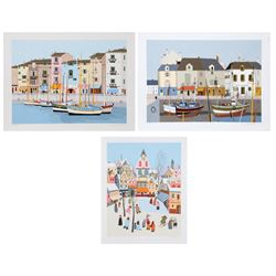 Pierre Montell, Lot of 3 French Village Serigraphs