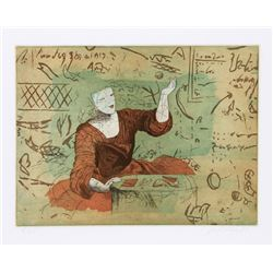 Saint Clair Cemin, Student, Etching