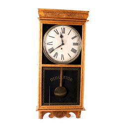 Ingraham Antique Large Regulator Wall Clock