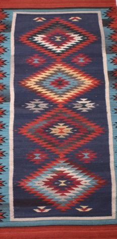 Image 2 Zapotec Native American Indian Hand Woven Rug