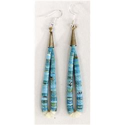 Native American Navajo Turquoise Jocla Earrings