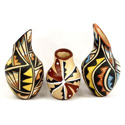 3 Pieces of Native American Jemez Miniature Pots