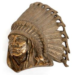 1967 Sioux Hollow Horn Bear Wall Plaque