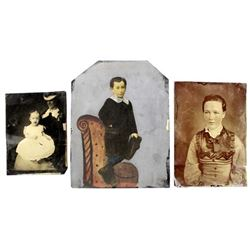 3 Antique Tintypes