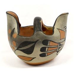 Native American Santo Domingo Pottery Bird Bowl