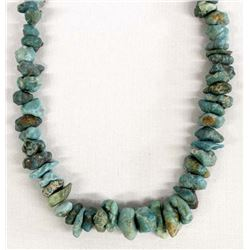 Native American Navajo Natural Turquoise Choker