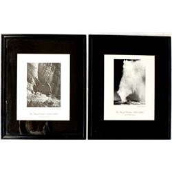 Framed Ansel Adams Mural Project Prints 1941-1942