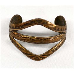 Native American Navajo Copper Bracelet