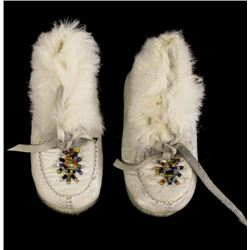Plains Indian Child's Leather Moccasins