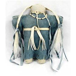 Plains Indian Beaded Leather Doll