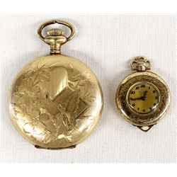2 Antique Gold Filled Watches