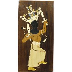 1977 Painting Wood Plaque by Jottana