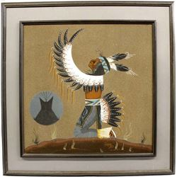 Large Navajo Sand Painting by Timothy Harvey