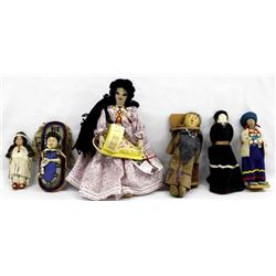 Collection of Dolls, Mostly Native American