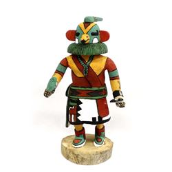 Hopi Hand Carved Wood Parrot Kachina by D. Adams