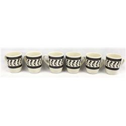 Set of 6 Anasazi Traders Mimbres Designed Cups