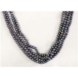 Gray Natural Seed Pearl Necklace
