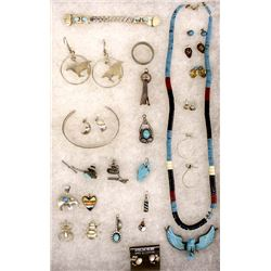 Large Collection of Native American Jewelry