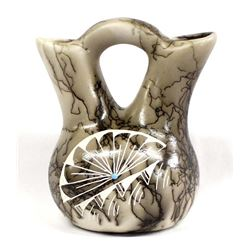Navajo Etched Pottery Wedding Vase by Vail