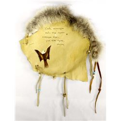 Native American Lakota Leather & Fur Banner