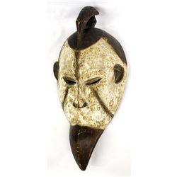 Vintage African Ceremonial White Mask