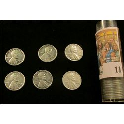 1943 S Gem BU Roll of World War II Steel Cents, many of the pieces grade MS 64 or beyond.