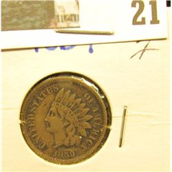 1859 Indian Head Cent, Fine.