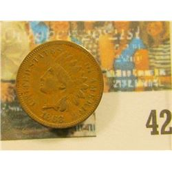 1868 Indian Head Cent, Fine.