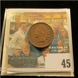 1897 Indian Head Cent, EF.