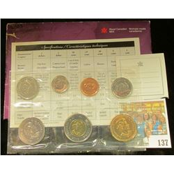 2003 Royal Canadian Mint Set, Seven-piece. Original as issued.